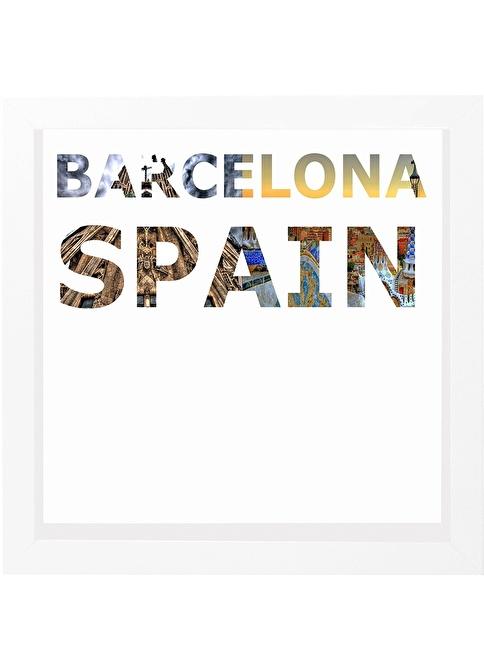 Decarthome Barselona Anı Çerçevesi 23x23 cm Beyaz